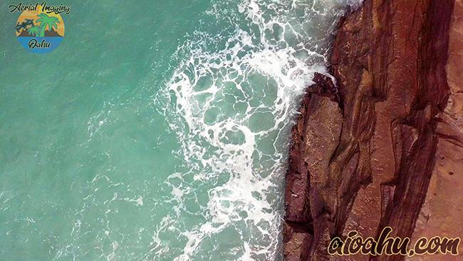 China walls coastal cliffs and rock platforms Oahu Hawaii